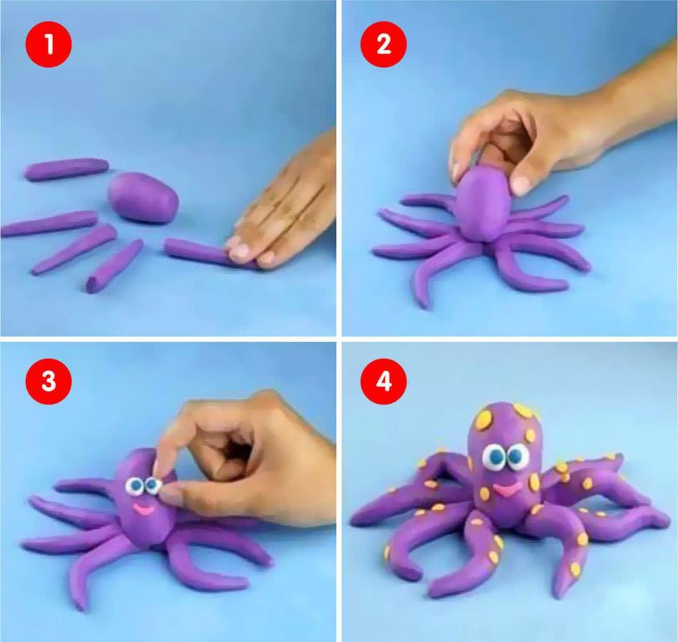 Картинки из пластилина для детей 2-3 лет